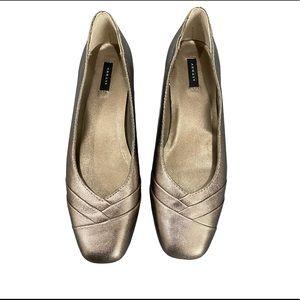 NEW Array Metallic Leather Ballet Flats Size 8N